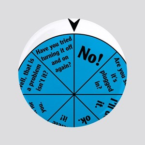 """IT Wheel of Answers 3.5"""" Button"""
