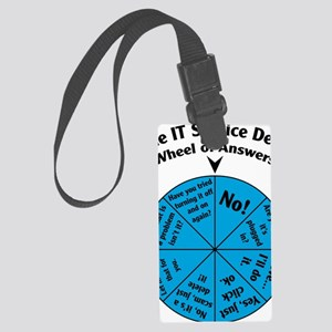 IT Wheel of Answers Large Luggage Tag