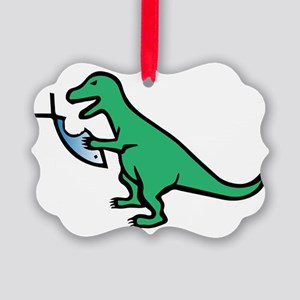 Atheism and T-Rex Picture Ornament