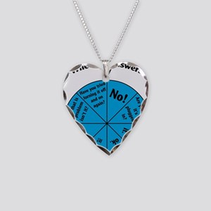 IT Wheel of Answers Necklace Heart Charm