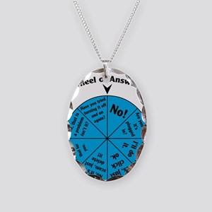 IT Wheel of Answers Necklace Oval Charm