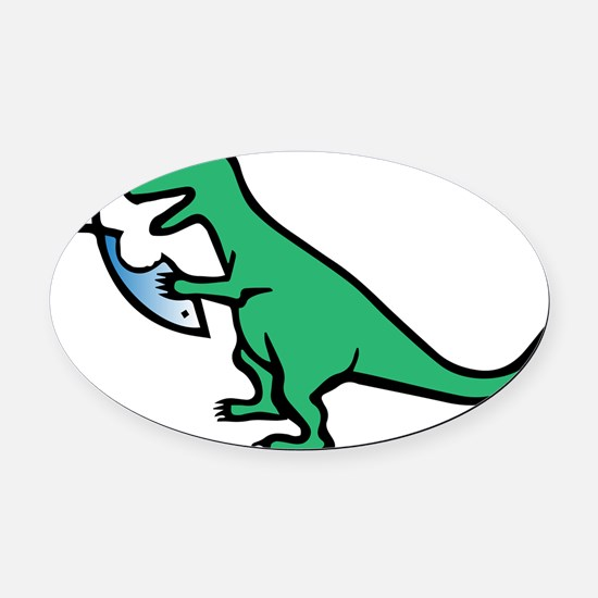 Atheism and T-Rex Oval Car Magnet