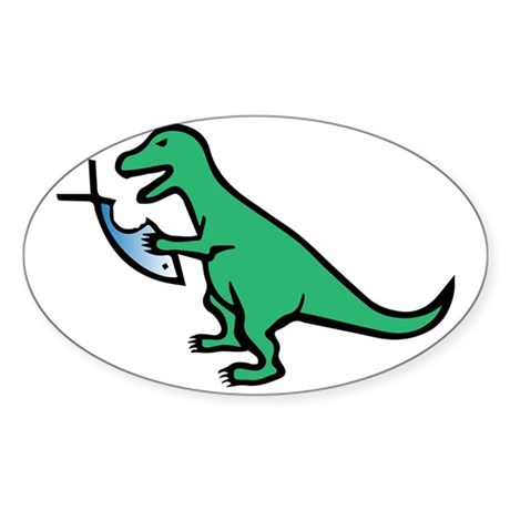 Atheism and T-Rex Sticker (Oval)