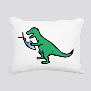 Atheism and T-Rex Rectangular Canvas Pillow