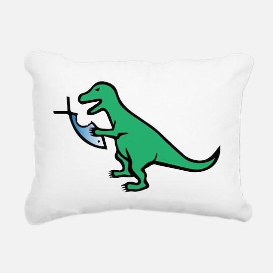 Atheism and T-Rex Rectangular Canvas Pillow