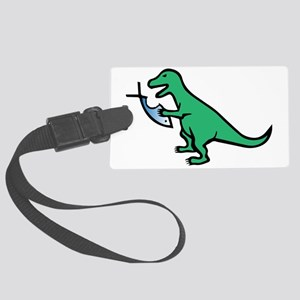 Atheism and T-Rex Large Luggage Tag