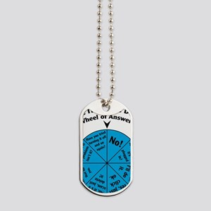 IT Wheel of Answers Dog Tags