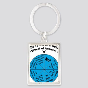 IT Wheel of Answers Portrait Keychain