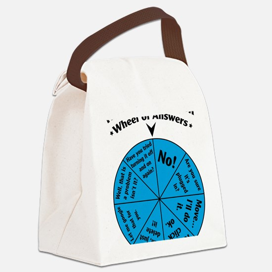 IT Wheel of Answers Canvas Lunch Bag