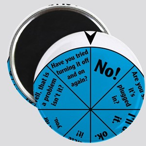 IT Wheel of Answers Magnet