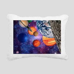Solar system Rectangular Canvas Pillow