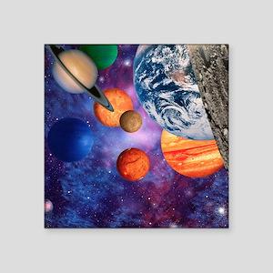 "Solar system Square Sticker 3"" x 3"""