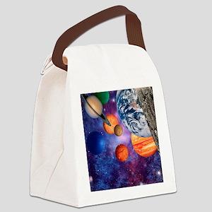 Solar system Canvas Lunch Bag
