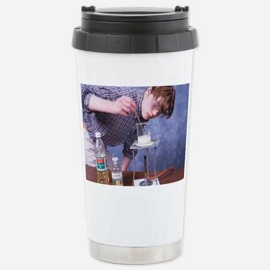 Student making soap Stainless Steel Travel Mug