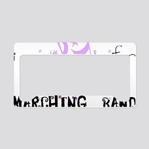 marching band cheerleading License Plate Holder