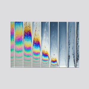 Soap film patterns sequence Rectangle Magnet