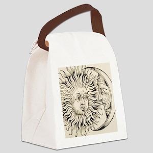 Sun and moon, historical art Canvas Lunch Bag