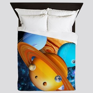 Solar system planets Queen Duvet