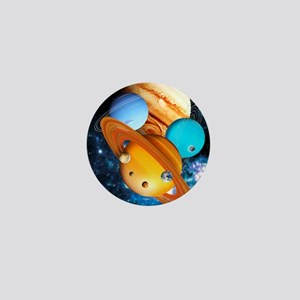 Solar system planets Mini Button