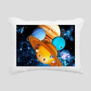 Solar system planets Rectangular Canvas Pillow