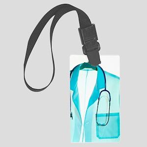 Stethoscope and lab coat Large Luggage Tag
