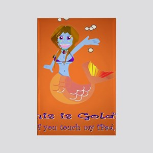 Goldie the Mermaid iPad version Rectangle Magnet