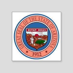 "Great Seal of Arizona Square Sticker 3"" x 3"""