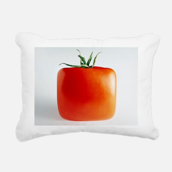 Square tomato Rectangular Canvas Pillow