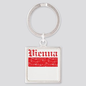 Flag Of Vienna Design Square Keychain
