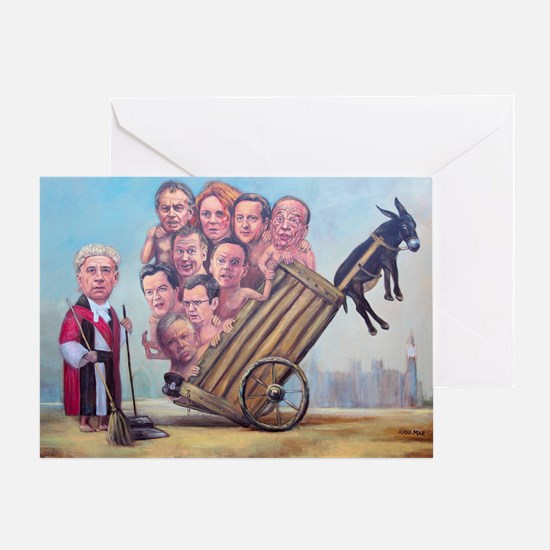 Framed Print: Leveson Inquiry Greeting Card