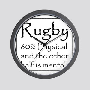 Rugby: 60% Physical Wall Clock