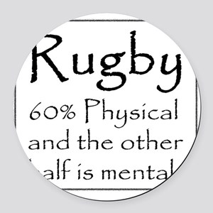 Rugby: 60% Physical Round Car Magnet