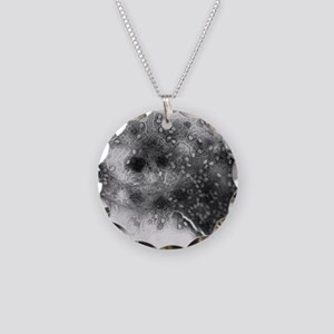 TEM of bacterial lysis due t Necklace Circle Charm