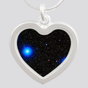 Stars Silver Heart Necklace