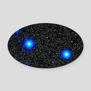Stars Oval Car Magnet