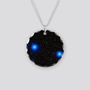 Stars Necklace Circle Charm