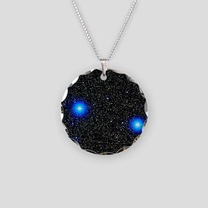 Stars Necklace Circle Charm