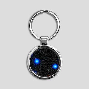 Stars Round Keychain