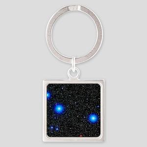 Stars Square Keychain
