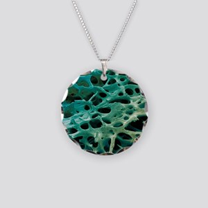Spongy bone, SEM Necklace Circle Charm