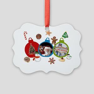 Las Vegas Christmas Ornaments Picture Ornament