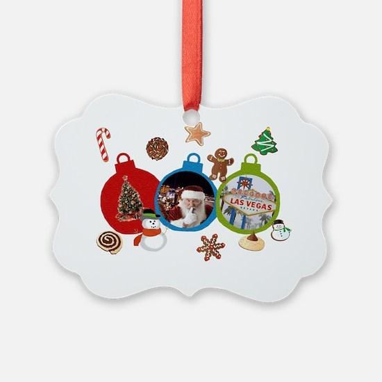 Las Vegas Christmas Ornaments Ornament