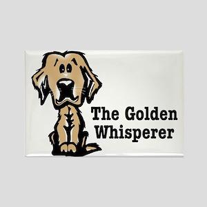 The Golden Whisperer Rectangle Magnet