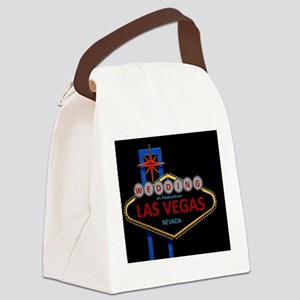 Wedding In Las Vegas Canvas Lunch Bag
