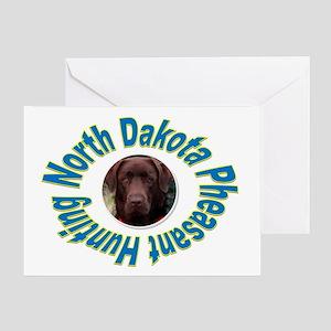 NORTH DAKOTA PHEASANT HUNTING Greeting Card