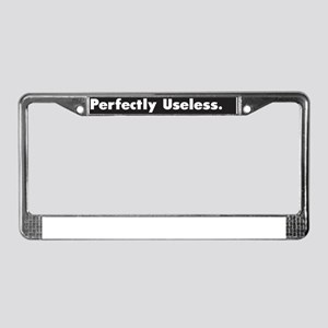 Perfectly Useless :FenderFlash License Plate Frame