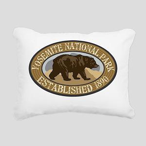Yosemite Brown Bear Badg Rectangular Canvas Pillow
