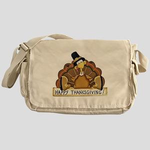 Happy Thanksgiving Turkey Messenger Bag