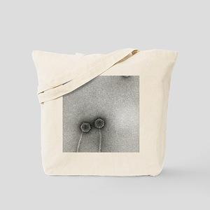 TEM of Lambda bacteriophages Tote Bag