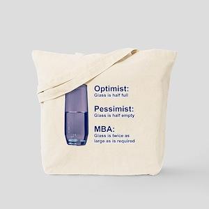 MBA Half Full Tote Bag